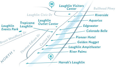 Laughlin Detailed Maps