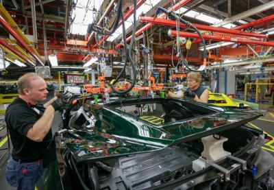 Corvette Assembly workers