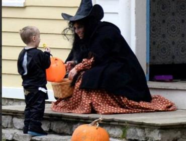 Trick or Treating in the Village