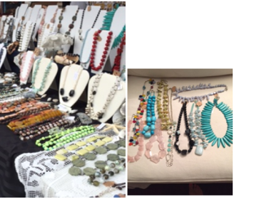 Artist Showcase at Via Girasole Wine Bar Featuring Jewelry made by Sue Hickey