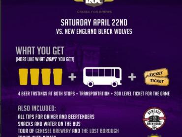 April 22nd Brew Tour + Knighthawks Lacrosse Game