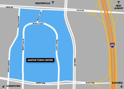 Easton Neighborhood Map