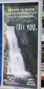 2016 Spring/Summer Co/Op - Platform Posters - MTA - Bushkill Falls