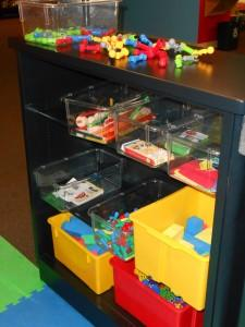 Blocks, foam shapes and plenty of building materials are waiting for kids at the FWMoA Early Learning Center.