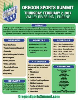 Oregon Sports Summit One Sheet