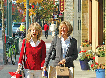 Fall Shopping in Downtown Traverse City