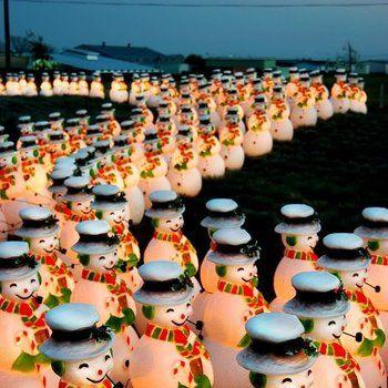 Lighting of the Snowmen