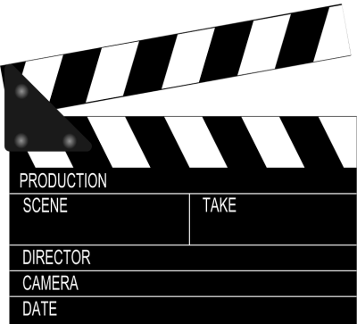 clapboard for video contest