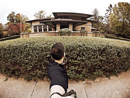 Meyer May House selfie