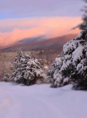 Blue Ridge Mountains Snow
