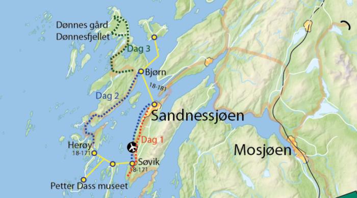 Pakke: Øyhopping med sykkel på Helgeland - fra Sandnessjøen