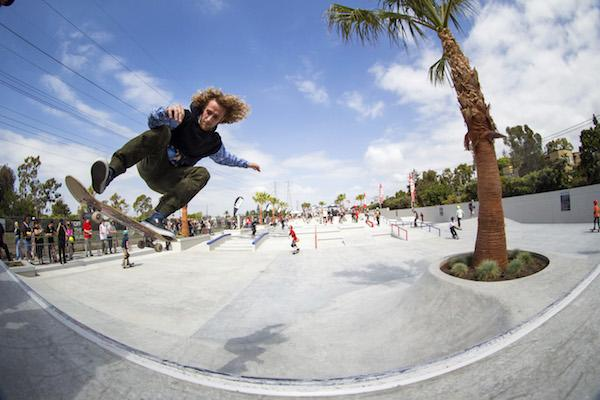 The Vans Off the Wall Skatepark in Huntington Beach
