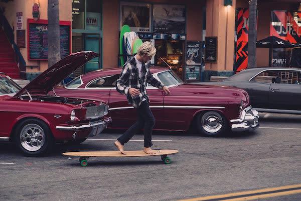 Hamboarding down Main Street
