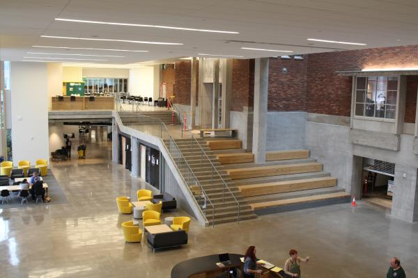 Main Lobby at the Newly Renovated EMU at University of Oregon