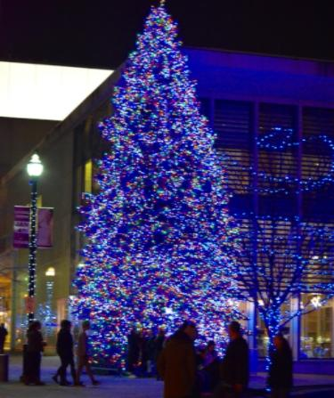 Christmas Tree rosa parks GRAM downtown holiday lights