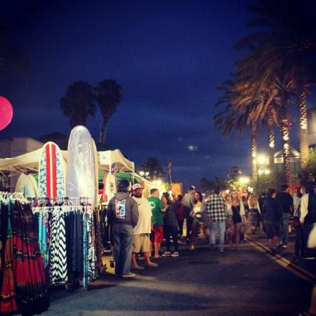 Surf City Nights has two streets full of tents and vendors to check out! (Photo courtesy of connieeo / Instagram)
