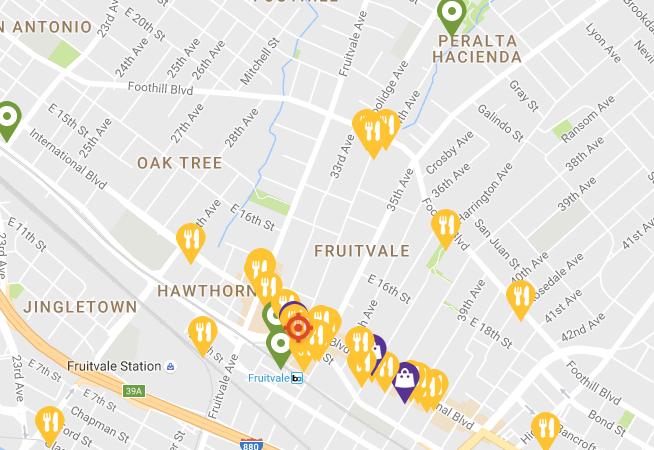Fruitvale Map