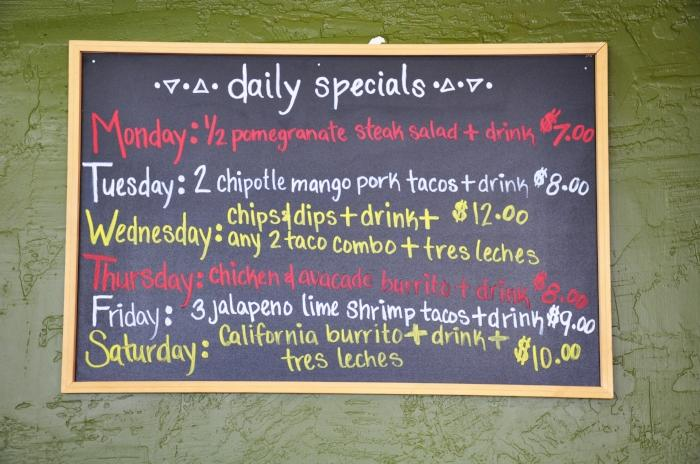Daily Specials at Route 67