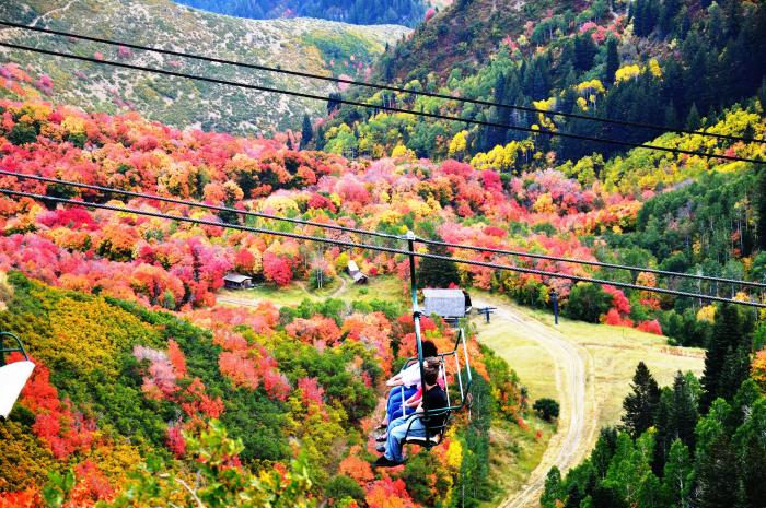Sundance Resort Fall Ski Lifts