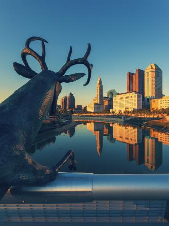 Deer Sculpture on the Scioto Mile
