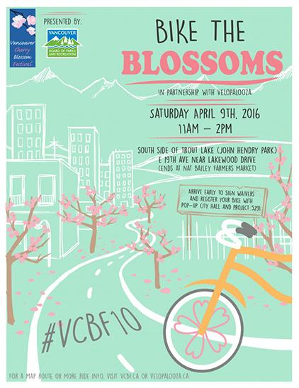 Vancouver Cherry Blosso Festival Poster 2016
