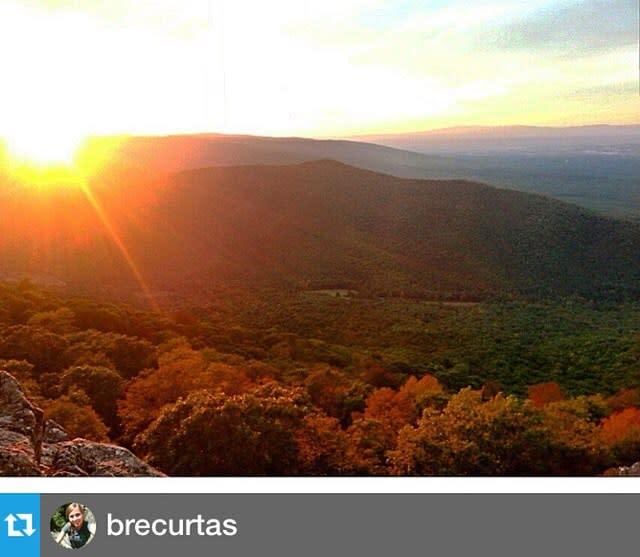 Mountains Overlook Sun - Fall Photo