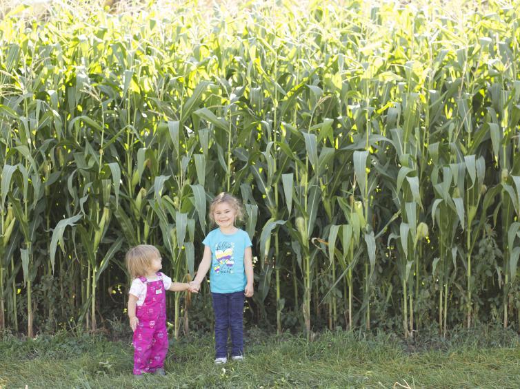 Hannah and Mylah at McMillan Farms