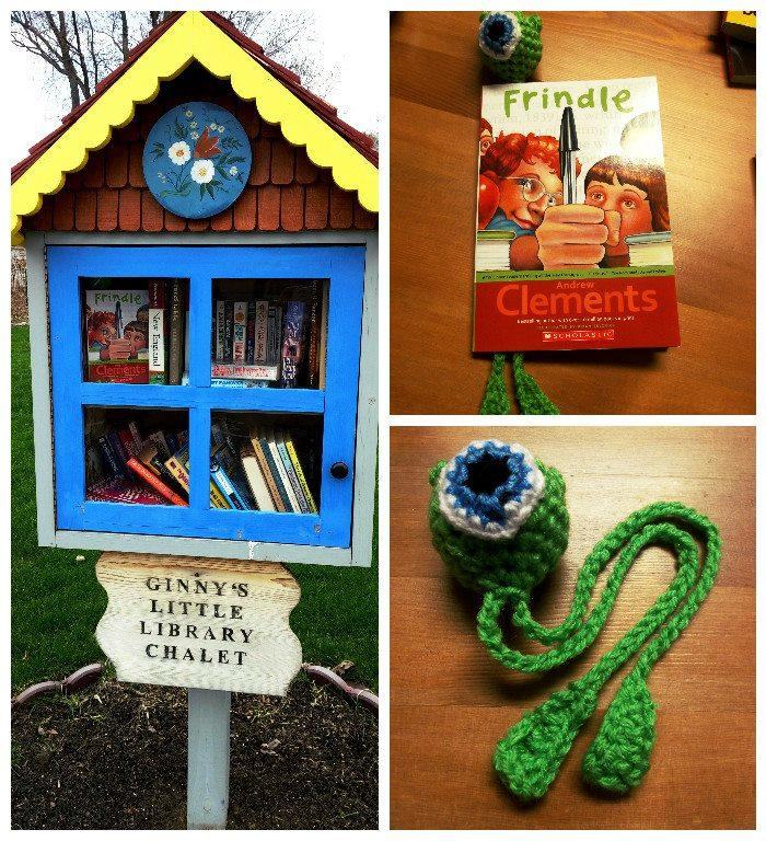Finders Keepers - Crocheted bookmarks in little free libraries!