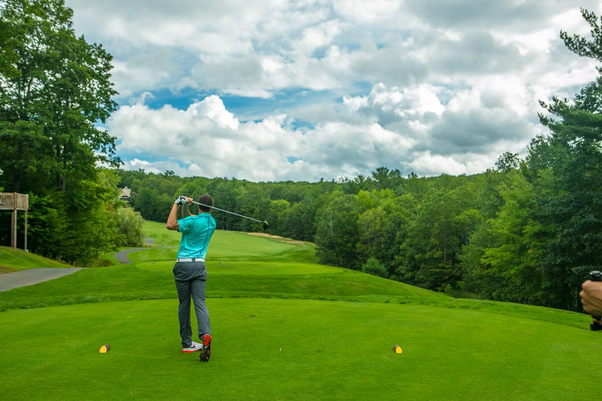 Golfing at the Country Club at Woodloch Springs in the Pocono Mountains
