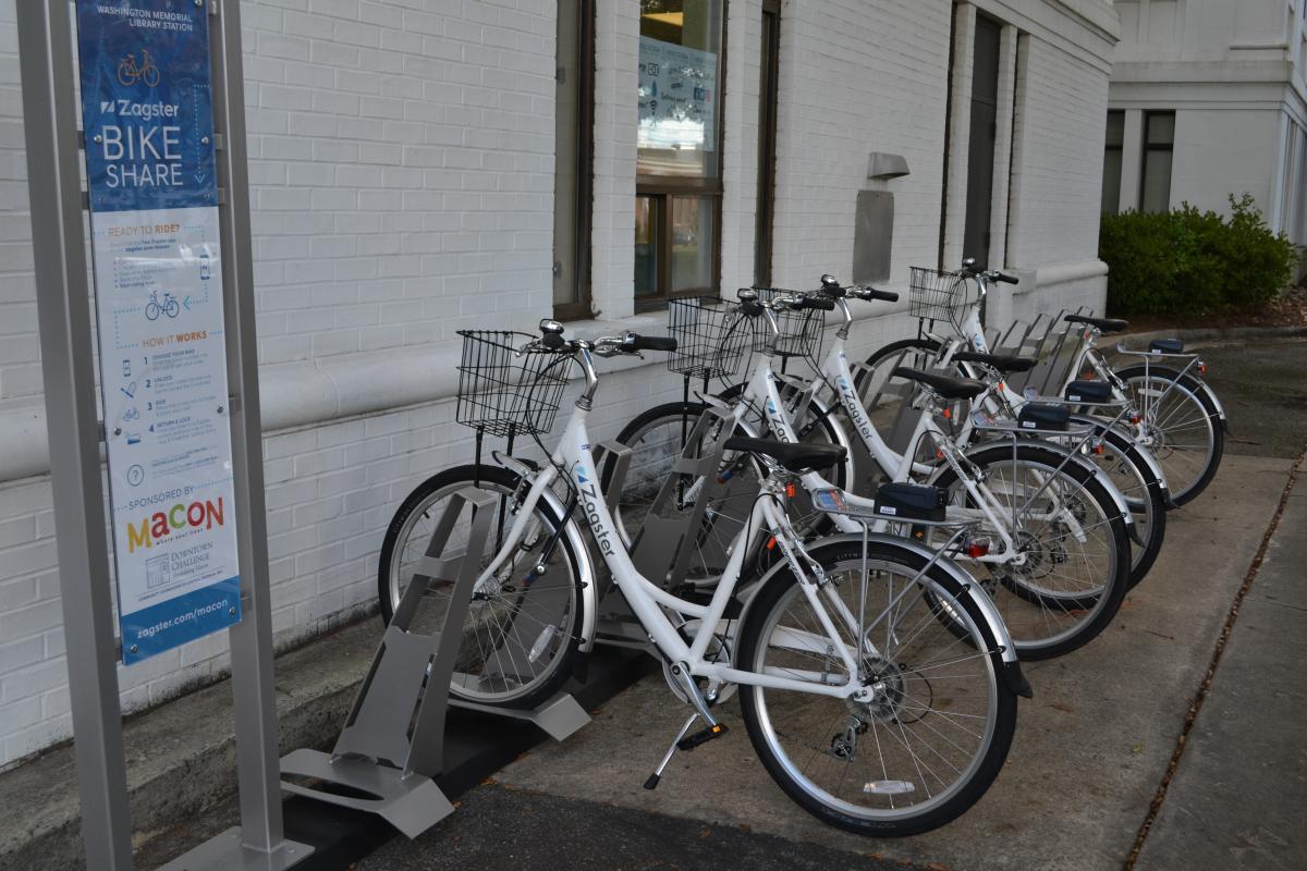 Macon Bike Share at the Washington Memorial Library