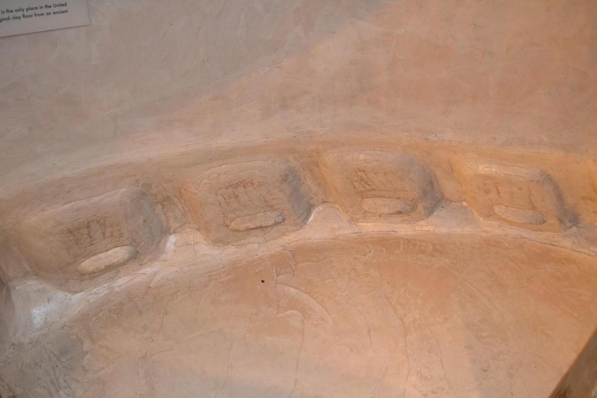 Replica of Earth Lodge Floor
