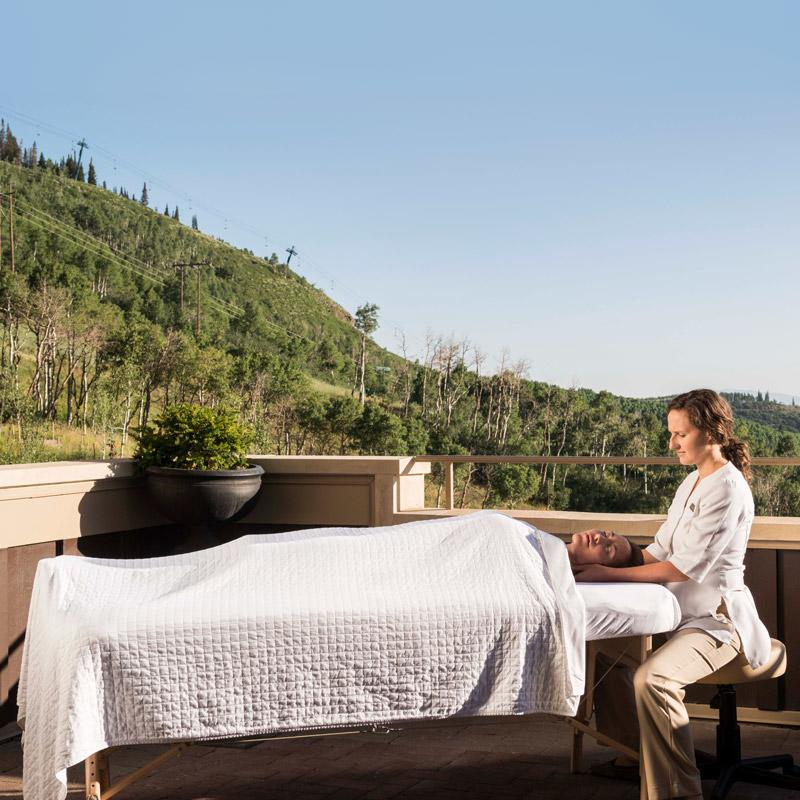 Spa-style massage at Park City resort