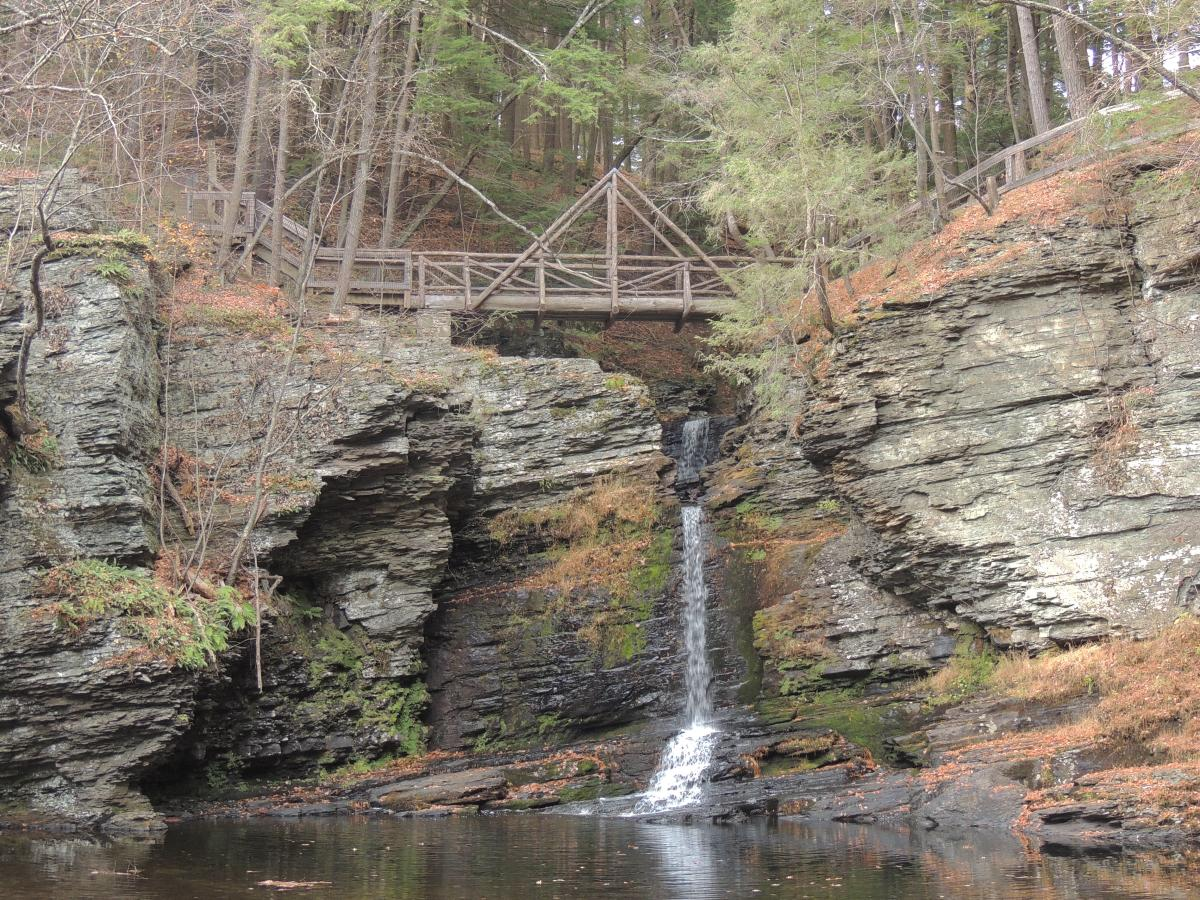 Fulmer Falls at George W. Childs Park in the DWGNRA Area
