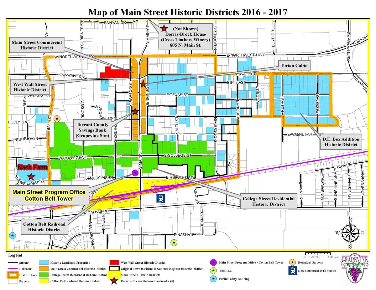 Main Street Historic Districts Map