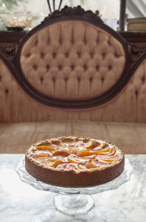 Peach-Topped Bavarian Torte #Recipe | ExploreAsheville.com