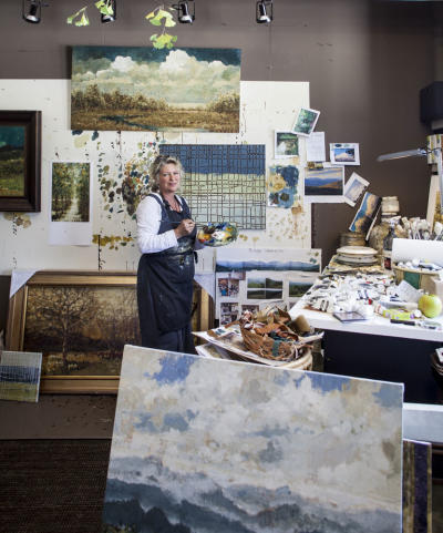 Wendy Whitson, Painter, In Her Studio