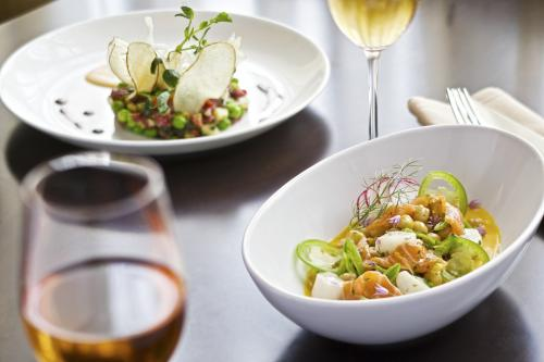 Food and wine at Grove restaurant in Grand Rapids