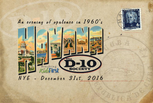The D-10 Society's Celebration of NYE: An Evening of Opulence in 1960s Havana