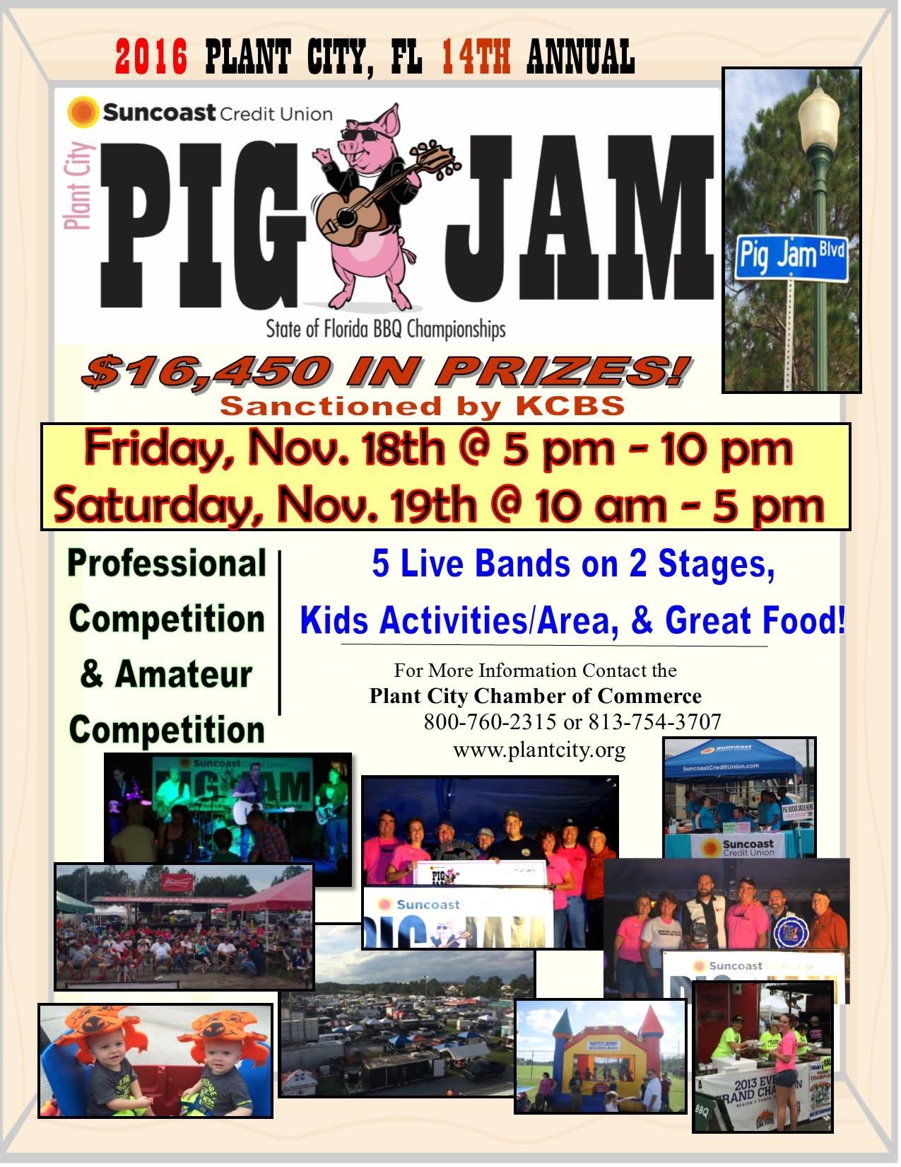 14th Annual Suncoast Credit Union Plant City Pig Jam