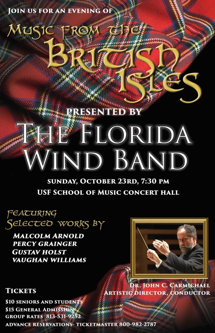 Music From The British Isles presented by The Florida Wind Band