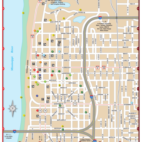map of downtown baton rouge bnhspinecom