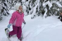 Snowshoeing at Salt Creek Sno-Park
