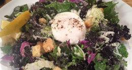 Kale Salad with Poached Egg