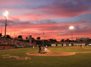 Lansing Lugnuts at sunset