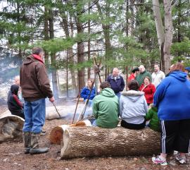 Park Naturalists will demonstrate how sap is cooked over an open fire during Maple Syrup Days (credit: Hendricks County Parks & Recreation)