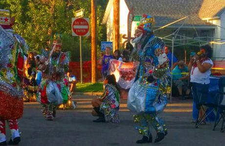 Fiesta masked performers