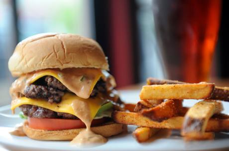Close-up photo of hamburger