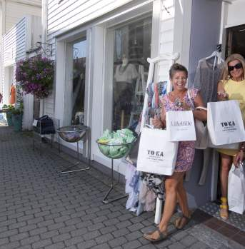 Shopping in Flekkefjord Norway