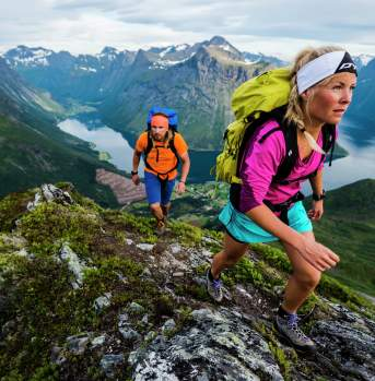 Trail running and hiking, Hjørundfjorden
