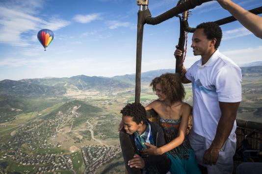 Hot Air Balloon Ride over Park City